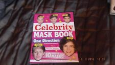 CELEBRITY MASK BOOK, ONE DIRECTION, 10 READY TO WEAR MASKS, CARLTON BOOKS