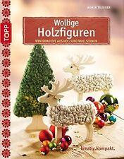 Wollige Holzfiguren * Wintermotive aus Holz und Wollschnur * TOPP 4063