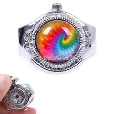 Woman Nice Rainbow Color Elastic Quartz Finger Open Ring Watch Brand New CTY