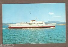 VINTAGE POSTCARD 1962 MV COHO 125 CAR FERRY WASHINGTON-BRITISH COLUMBIA
