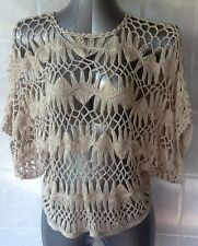 Supre Oversized Crochet Top - Beige - One Size Fits 12 - 16