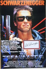 ARNOLD SCHWARZENEGGER Signed 18x12 Photo Display THE TERMINATOR COA