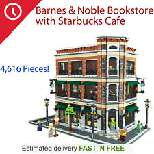 Barnes And Noble Bookstore + Starbucks Cafe Corner - LEGO 10182 Compatible