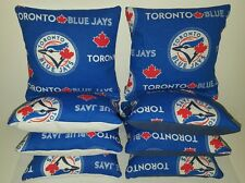 SET OF 8 ALL WEATHER TORONTO BLUE JAYS CORNHOLE BAGS ***FREE SHIPPING***