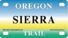 SIERRA Oregon Trail - Mini License Plate - Name Tag - Bicycle Plate!