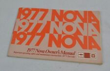 VINTAGE 1977 CHEVROLET CHEVY NOVA OWNER'S MANUAL OEM 460246 GLOVE BOX