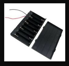 Plastic 8 x AA 1.5V 2A CELL Battery Holder Storage Box WITH COVER AND ON / OFF