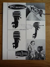 MERCURY MARINE ENGINES BROCHURE, EARLY 60's   jm