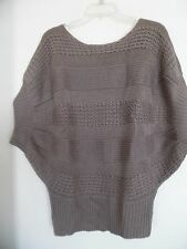 Forever 21 Juniors Taupe  Short Sleeve Sweater Size L