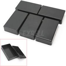 5x Boîtier en Plastique DIY Boîte Projet électronique Jonction Box Case Noir