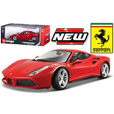 Bburago Ferrari Race & Play Ferrari 488 GTB Diecast Model Car 1:18 16008 Red