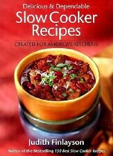 175 SLOW COOKER RECIPES huge orange paperback by J. Finlayson 2002 Delicious red