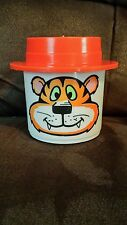 "Vtg Orange Retro Burger King Tiger ""My Mug"" Straw insert Whirley EUC"
