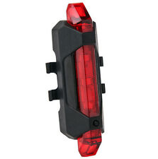 5 LED Rear Safety Tail Bike USB Rechargeable Bicycle Cycling Red Warning Light