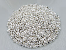 500 x 2mm Round Spacer Beads Silver, NF, Findings, Beads Metal    (MBX0050)