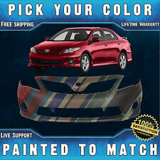 NEW Painted To Match - Front Bumper Cover For 2011-2013 Toyota Corolla Sedan