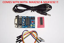 USA !! RS 232 TO TTL CONVERTER MODULE , WITH MAX232 & 3232 TRANSFER CHIPS , NEW
