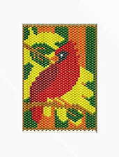 Stainglass Fall Cardinal Beaded Banner Pattern
