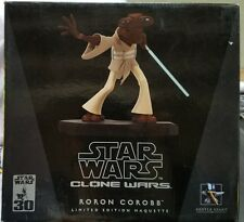 STAR WARS CLONE WARS RORON COROBB LIMITED EDITION MAQUETTE ANIMATED STATUE #1533