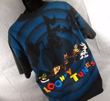 Vintage Looney Tunes T-Shirt 2XL Black XXL Marvin Martian Bugs Bunny Taz Daffy