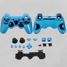 Full Housing Shell Case Kits Replace Parts for PS3 Wireless Controller Blue