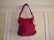 NWT $1300 EMILIO PUCCI  LEATHER SHOULDER BAG HANDBAG PURSE BERRY MADE IN ITALY