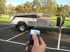 Extreme Off Road Hard Floor Camping Camper Trailer 7x5ft 4X4 4WD Caravan White