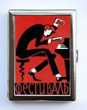 Russian Piano Player Cigarette Case Wallet Business Card Holder …