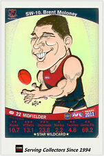 2011 AFL Teamcoach Cards Star Wild SW10 Brent Moloney (Melbourne)