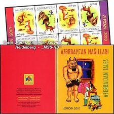 Azerbaiyán Azerbaijan Europa cept 2010, libros infantiles, markenheftchen (MH) **