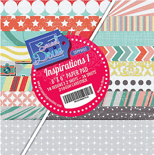 "Inspirations 1 Sweet Dixie 6 x 6"" Scrapbooking Paper Assorted Colours 36 Sheets"