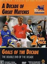 Premier League A DECADE OF GREAT MATCHES / GOALS OF THE DECADE DVD DOUBLE SOCCER