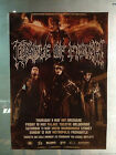 CRADLE OF FILTH 2013 Australian Tour Poster A2 *NEW*