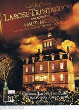 PUBLICITE ADVERTISING 075  1988  LES vins du CHATEAU LAROSE-TRITAUDON  MEDOC