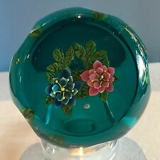 "William Manson for Caithness ""Rose Garland"" Limited Edition Flower Paperweight N"