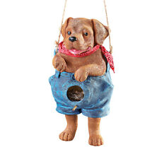 Collections Etc Blue Jean Puppy Dog Bird House
