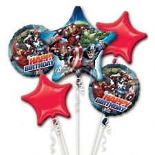 Marvel Avengers Birthday Party Favor Supplies 5CT Foil Balloons Bouquet