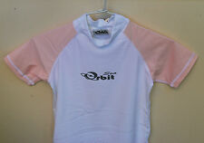 Kids Rashies Top Lycra Top Light Pink/White Size available 6, 8, 10, 12, 14