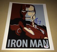 Robert Downey Jr. IRON MAN Hand Signed 11X14 Photo IN PERSON Autograph PSA DNA