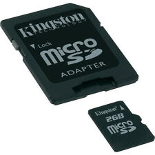 Kingston 2 GB MicroSD Standard Micro SD Flash Card Camera Cell Phone GPS SD