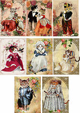 Cats Dressed Up  ~ Card Making Toppers / Scrapbooking / Crafting