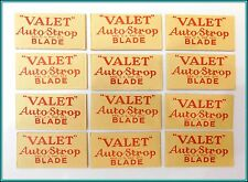 Lot of 12 GILLETTE Single Edge VALET Autostrop Safety Razor Blades USA Made  NOS