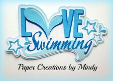 Craftecafe Mindy Love Swimming Pool Summer premade paper piecing scrapbook Title
