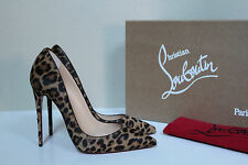 New sz 6 / 36 Christian Louboutin So Kate Pony Leopard Pointed Toe Pump Shoes