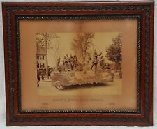 1892 WOBURN MA MASS INDIAN FRAMED PHOTO of PARADE FLOAT