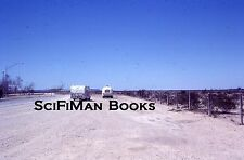 KODACHROME 35mm Slide Old Camping Trailers RVs Car Bicycle Barbwire Fence 1977!