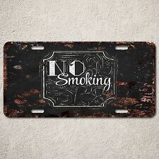 LP0154 Old Vintage No Smoking Sign Auto Car License Plate Home Store Gift Decor