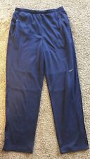Nike Men's XL Mesh-Lined Polyester Blue Tennis Sweat Pants FXK