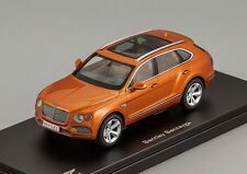 New Kyosho Car Model 1:43 Bentley Bentayga 2016 Orange Flame 05621P