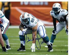 RICHIE  INCOGNITO   MIAMI DOLPHINS 3 POINT  STANCE SIGNED AUTOGRAPHED 8X10 PHOTO